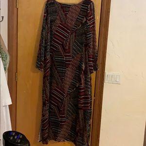 Dress. Long. Velour. From Sundance. Sz 16